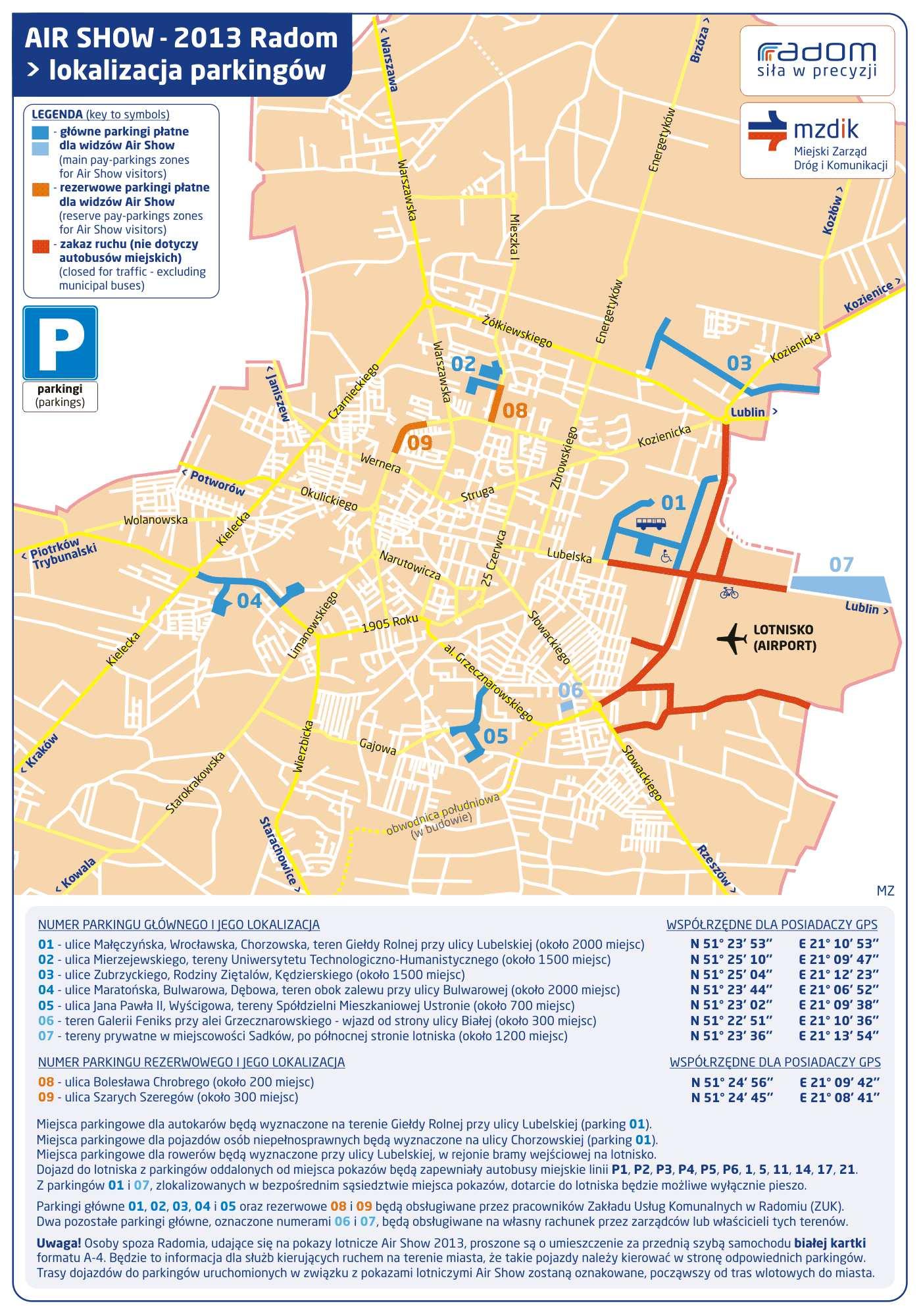 parkingi-miejsca-radom-airshow-2013