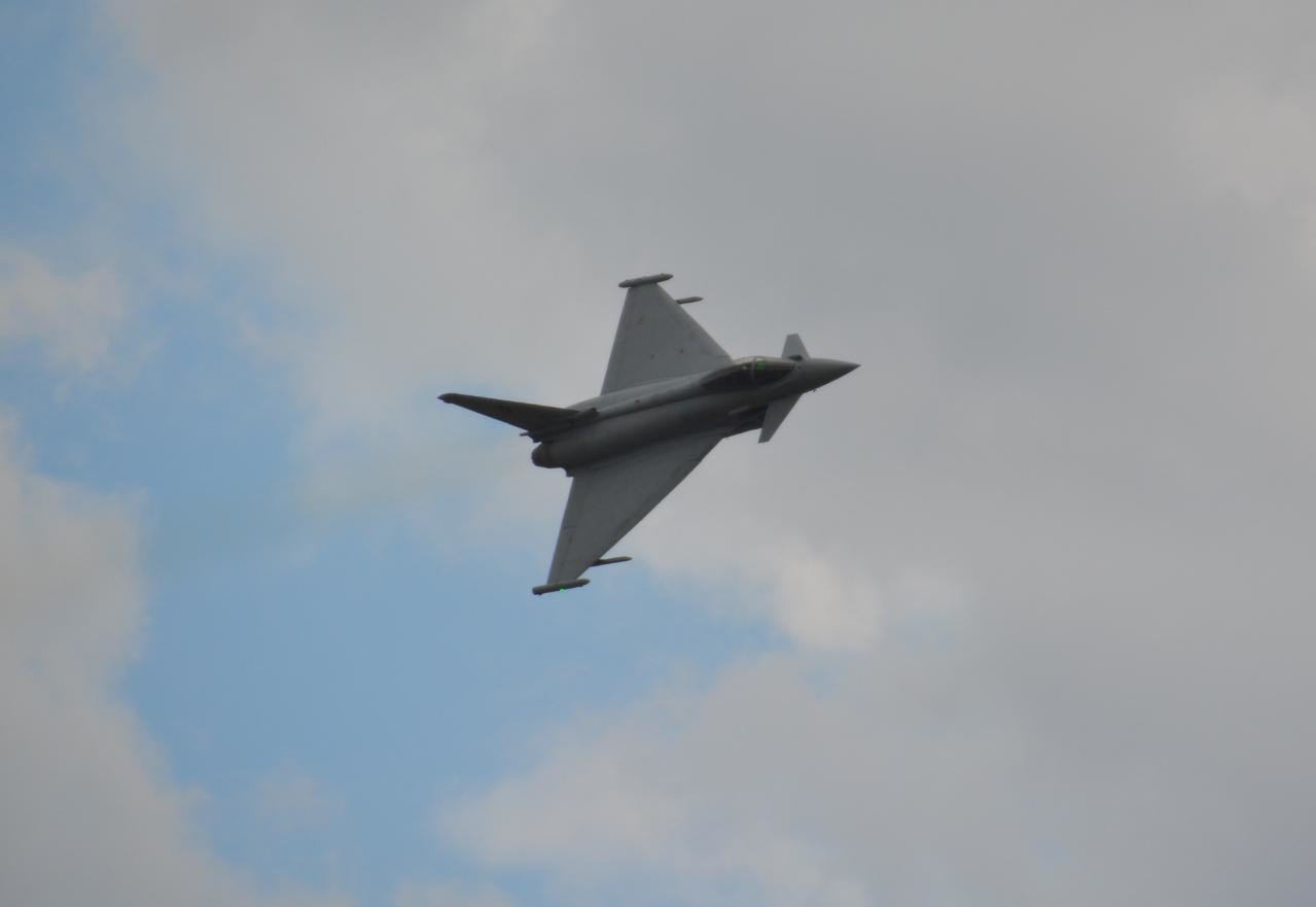 Eurofighter Typhoon na pokazach Airshow Radom